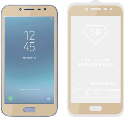 TIGERIFY Tempered Glass Guard for Samsung Galaxy J2 2018 FULL GLUE GUM 9H GLASS SCREEN PROTECTOR GOLD(Pack of 1)