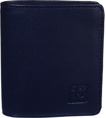 K London Men Black, Blue Artificial Leather Wallet(5 Card Slots)