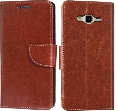 Cover Alive Flip Cover for Samsung Galaxy J7 - 6 (New 2016 Edition)(Executive Brown, Dual Protection, Leather)