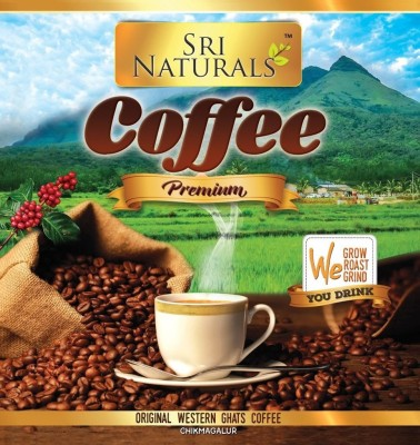 sri naturals Premium Coffee powder 1KG (Original COFFEE from Western Ghats Karnataka Chikkamagaluru ,Directly packed from Grower and Manufacturer) Filter Coffee 999 g(Pack of 2)  available at flipkart for Rs.598