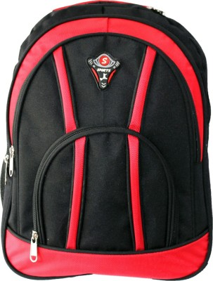 Aoking Stylish 18 L Backpack Red, Black