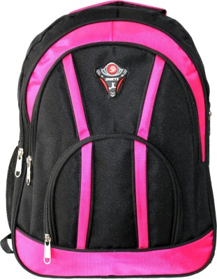 Aoking Stylish 18 L Backpack Pink, Black