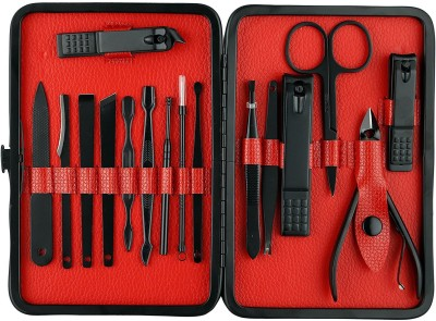 Healthllave Manicure | Pedicure Kit | Nail Clippers Set Stainless Steel Personal Manicure & Pedicure Travel | Manicure Kit with Large Size Nail Clipper, Dead Skin Pliers, Ear Pick, Cuticle Shovel, Eyebrow Clip, Cuticle Knife, Nail File, Acne Needle, Nail Pick Dirt Tools, Leather case One Small Nail  Flipkart