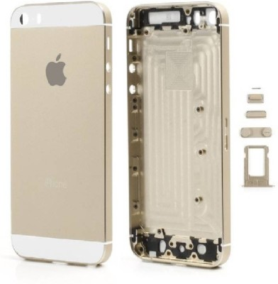 BUCKEINSTORE Back Replacement Cover for Apple iPhone 5s(Gold, Hard Case, Metal)