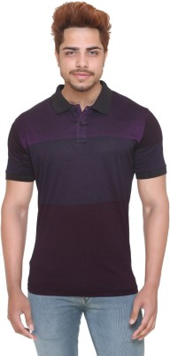 Metronaut Solid Men Polo Neck Brown T-Shirt