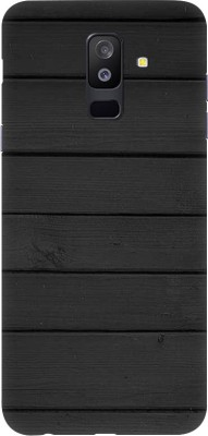 OBOkart Back Cover for Samsung Galaxy A6 Plus(Classic Black wallpaper, Waterproof, Plastic)