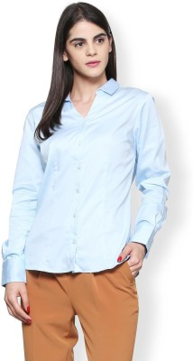 Van Heusen Women Solid Formal Blue Shirt