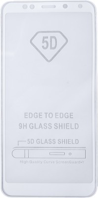 Dekkin Tempered Glass Guard for [5D Tempered Glass with Perfect Cut for Sensor] Full Coverage for Xiaomi Redmi Note 5(Pack of 1)