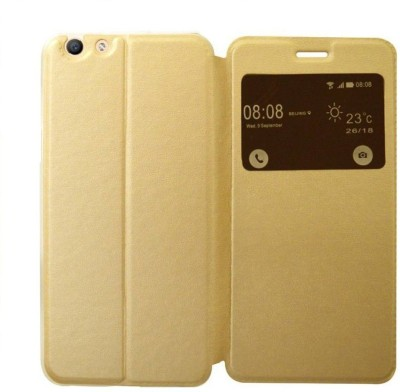 COVERNEW Flip Cover for VIVO Y55L - 1610(Blush Golden, Dual Protection, Artificial Leather, Plastic) Flipkart