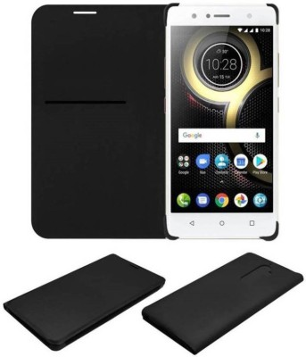 COVERNEW Flip Cover for Lenovo K8 Plus   PA8C0020IN/PA8C0003IN Black, Dual Protection COVERNEW Plain Cases   Covers