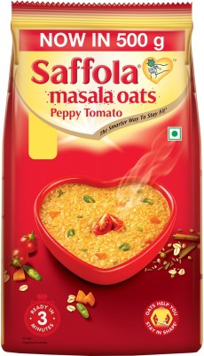 Saffola Peppy Tomato Masala Oats(500 g, Pouch)