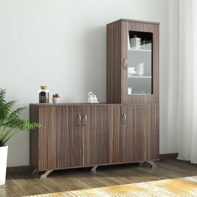 Crystal Furnitech Eadric Engineered Wood Kitchen Cabinet(Finish Color - Cairo wallnut)