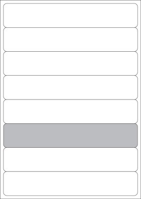 NPLABEL A4 labels   197 X 34 mm, 80 Stickers Per Packet, Self Adhesive Paper Label White
