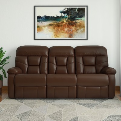 Woodness Billy Leatherette Manual Recliners(Finish Color - Brown)