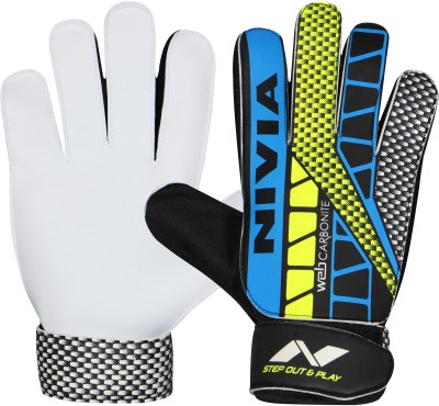 Nivia Carbonite Web Goalkeeping Gloves (L, Multicolor)