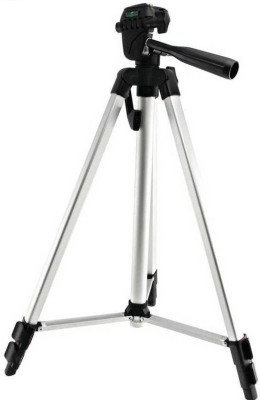 Spring Jump Tripod-3110 40.2 Inch Portable Camera Tripod With Three-Dimensional Head & Quick Release Plate Tripod Tripod(Silver, Supports Up to 2000 g) 1