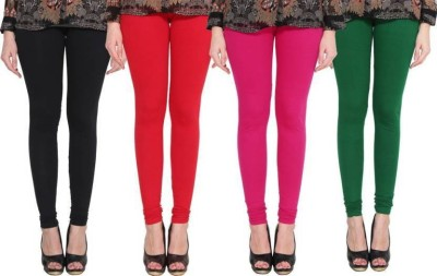 Aditi Fashion Ankle Length  Legging(Red, Green, Solid)