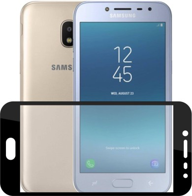 Case Creation Edge To Edge Tempered Glass for New Samsung Galaxy J4 SM-J400 FZ(Pack of 1)