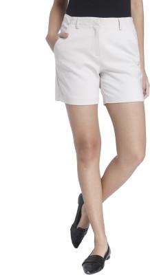 Vero Moda Solid Women White Basic Shorts at flipkart