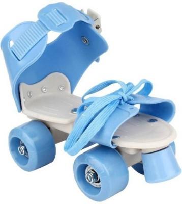 nvcollections Roller Skate Shoes with Adjustable Quad Roller Skates - Size 16-22 UK(Blue)