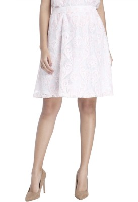 Vero Moda Self Design Women Pleated White Skirt at flipkart