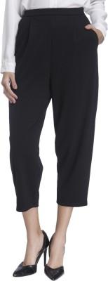 Vero Moda Regular Fit Women Black Trousers at flipkart