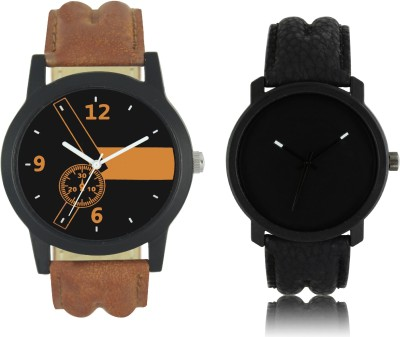 IndiCare watches for boys new combo watch for men with black dial watch fancy look smart watch black and brown color watch for men wrist watch Analog Watch  - For Boys & Girls