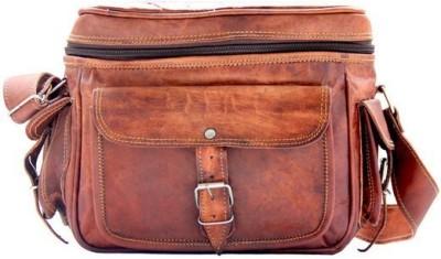 Pranjals House genuine leather Camera Bag(Brown) 1