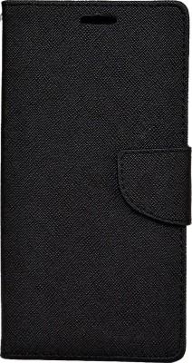 Avzax Flip Cover for Intex Aqua Lions 4G(Black, Dual Protection, Artificial Leather)