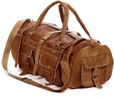 Pranjals House leather duffle bag Duffel Without Wheels Multicolor Pranjals House Duffel Bags