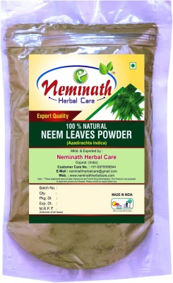 Neminath Herbal Care Neem Leaves (Azadirachta Indica) Powder For Pimple Free Clear Skin Naturally (100Grams)(100 g)