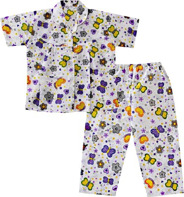 6d50f60c8f 10% OFF on BownBee Kids Nightwear Girls Printed Cotton(Multicolor Pack of 1)