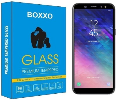 Boxxo Tempered Glass Guard for Samsung Galaxy A6(Pack of 1)