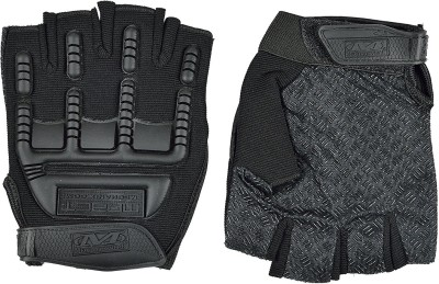 Iris Mechanix Wear Weight Lifting Gloves Half-Finger Training Gloves for Fitness, Training Exercise,Cycling,Running,Yoga for Men & Women Gym & Fitness Gloves (Free Size, Black)
