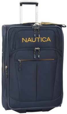 Nautica Solid soft Body Expandable  Check-in Luggage - 29 inch(Blue) at flipkart