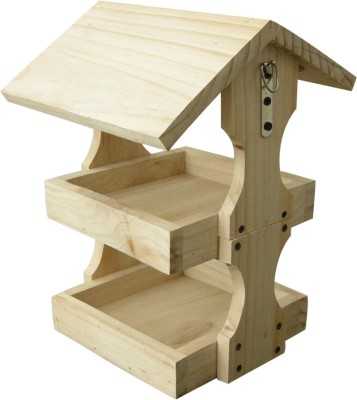 Birdhousebuilder BF0033 Two Shelf Bird Feeder Bird House(Hanging, Free Standing)