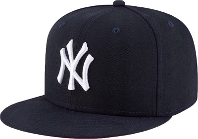 Freshook Solid NY Snapback Hip Hop White Embroidered Cap