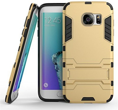 Loopee Back Cover for Samsung Galaxy J7 Prime Gold, Dual Protection Loopee Plain Cases   Covers