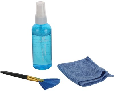 Live Tech CK01 Pro Cleaning Kit with Advanced Sterile Liquid, Micro-Fibre Cloth and Anti-Static Brush for Computers, Laptops, Mobiles(CK01)