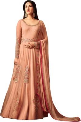 Salwar Soul Net Embroidered Semi-stitched Salwar Suit Dupatta Material