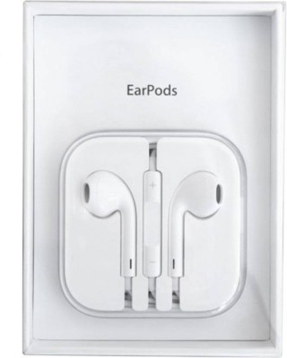 TopamTop 3.5 MM Stereo Earphone for Android/iOS Phones Wired Headset with Mic(White, In the Ear)