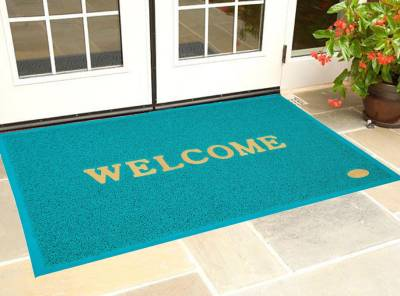 Kuber Industries PVC Door Mat  (Green, Extra Large)