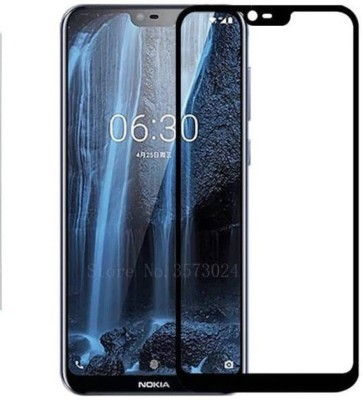 KrKis Edge To Edge Tempered Glass for Nokia 6.1 Plus(Pack of 1)