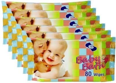 OM Baby Bath Wipes 480 Wipes OM Baby Wipes