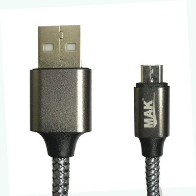 Edfigo PVC Micro USB 2.1A (High-Speed) Fast Data Sync & Charge Cable(Mobile, Black)