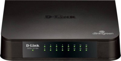 D-Link D-Link DES-1016A 16-Port 10/100 Network Switch Network Switch(Black)