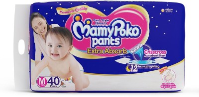 Mamy Poko Pants Extra Absorb M Diapers (40 Pieces)