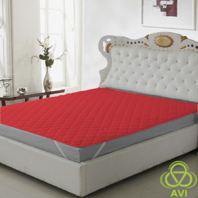 AVI Fitted Small Size Waterproof Mattress Protector(Red)