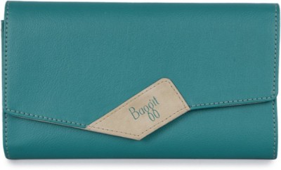 Baggit Women Green Artificial Leather Wallet(8 Card Slots)