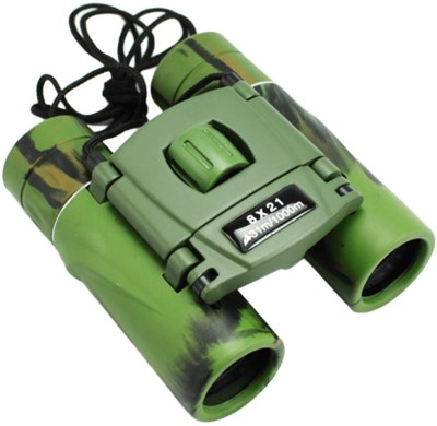 Protos 8X 21mm Military Green HD Compact Mini Binoculars(21, Green)